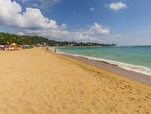 Chmury pod Unawantana plażą Fotografia Royalty Free