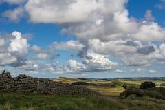 Chmury podróż nad górą fotografia royalty free