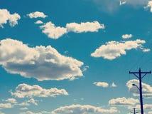 Chmury prawda lub konsekwencje obrazy stock