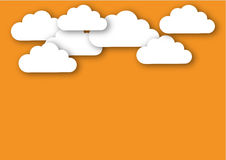 Chmury przeciw dobremu royalty ilustracja