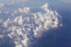 Chmury przeglądają od samolotu Obrazy Royalty Free