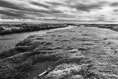Chmury przychodzi z deszczem przy krańcowymi południe świat: Tierra Del Fuego w chilean terytorium obraz royalty free