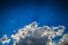 Chmury, romantyczna scena Zdjęcia Stock