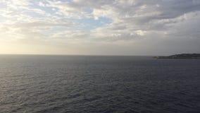 Chmury Spotykają ocean Zdjęcia Royalty Free