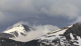 Chmury staczają się góry zdjęcie wideo