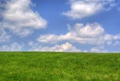 chmury trawa Zdjęcia Stock