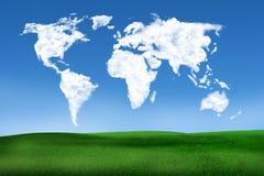 Chmury tworzy kształt świat ilustracji