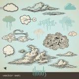 chmury ustawiać royalty ilustracja