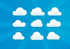 Chmury Ustawiać ilustracja wektor