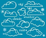 chmury ustawiać ilustracji