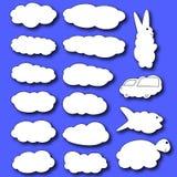 chmury ustawiać Chmury w postaci zwierząt ilustracja wektor