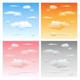 chmury ustawiają niebo ilustracji