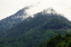 Chmury w górach Obrazy Royalty Free