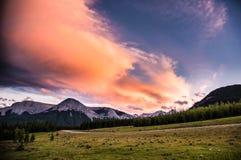 Chmury w górach Obraz Stock