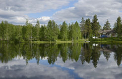 Chmury w jeziorze Obraz Stock