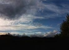 Chmury w niebie w Barcelona Obrazy Royalty Free