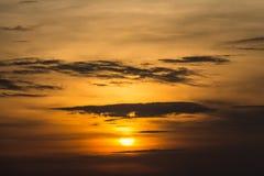 Chmury w położenia słońcu Zdjęcie Royalty Free