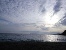 Chmury w popołudniu Zdjęcia Royalty Free