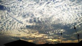 Chmury w popołudniu Zdjęcie Royalty Free