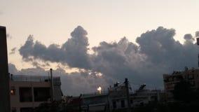 Chmury w wieczór Zdjęcia Royalty Free