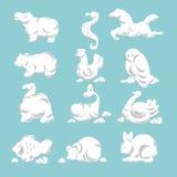 Chmury w zwierz?cym kszta?ta cloudscape ?owi? ptaki i ssak?w royalty ilustracja