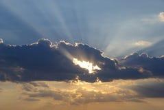 chmury wieczorem niebo Fotografia Royalty Free