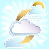 chmury z deszczem Obrazy Royalty Free