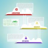 Chmury z drabinowym prostym czystym infographics Zdjęcia Royalty Free