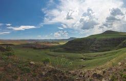 Chmury zbiera nad doliną Zdjęcia Royalty Free