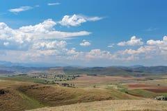 Chmury zbiera nad doliną Fotografia Stock