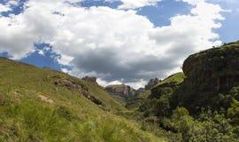 Chmury zbiera nad doliną Obraz Royalty Free