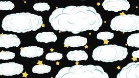 Chmury zestrzelają i gwiazdy ilustracji
