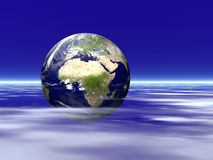 chmury ziemi Zdjęcie Royalty Free