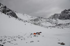 Chmurząca pogoda w górach obrazy royalty free
