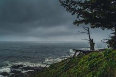 Chmurzący dzień przy wybrzeżem Zdjęcie Royalty Free