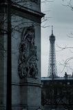 chmurzący Paryża obrazy royalty free