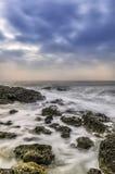 Chmurzący niebo i morze Zdjęcia Royalty Free