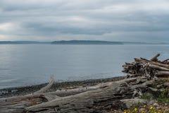 Chmurzący Puget Sound Obraz Royalty Free
