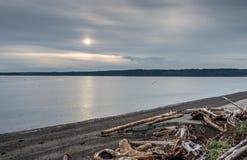 Chmurzący Puget Sound Fotografia Royalty Free