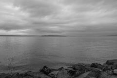 Chmurzący Puget Sound 2 Obraz Royalty Free