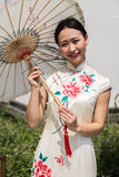 Chnese girl posing at Expo 2015 in Milan, Italy Stock Image