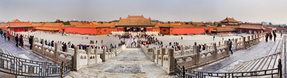 Chnia Forbidden City 01 panorama Royaltyfri Foto