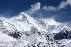 Cho Oyu, the 6th highest mountain in the world Royalty Free Stock Photography