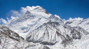Cho Oyu, from Base Camp. Cho Oyu, the sixth highest mountain in the world from Base Camp Royalty Free Stock Images