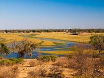 Chobe river. On the border between Botswana and Namibia royalty free stock photos