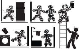 Choc électrique illustration stock