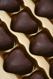 Choc. Macro shots - sweet, kind-hearted chocolate Royalty Free Stock Images