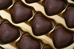 Choc. Macro shots - sweet, kind-hearted chocolate Royalty Free Stock Image