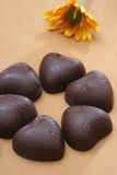 Choc. Macro shots - sweet, kind-hearted chocolate Stock Images