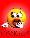 Choc 2 de danger illustration de vecteur